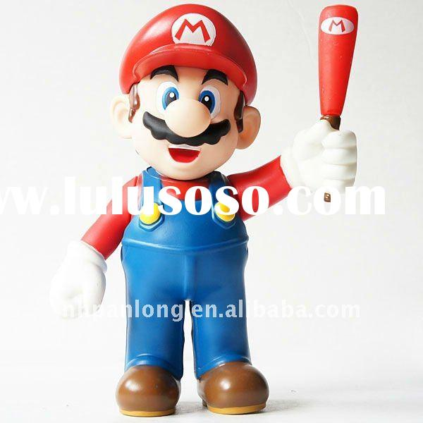 3d super mario bros pvc action figurines,plastic figures and toys