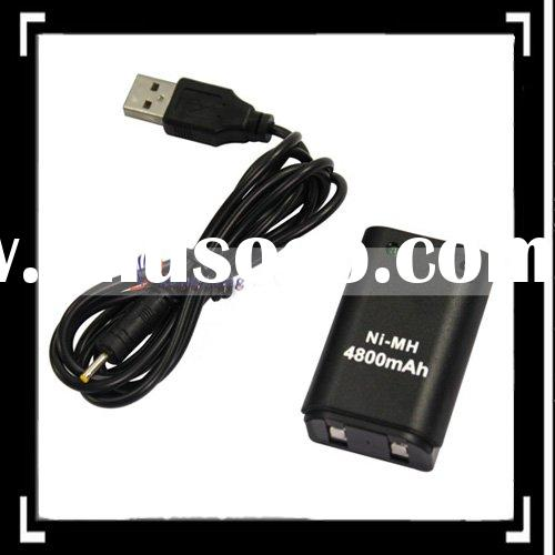 4800mAH Rechargable Battery for Xbox 360+USB Charger Cable