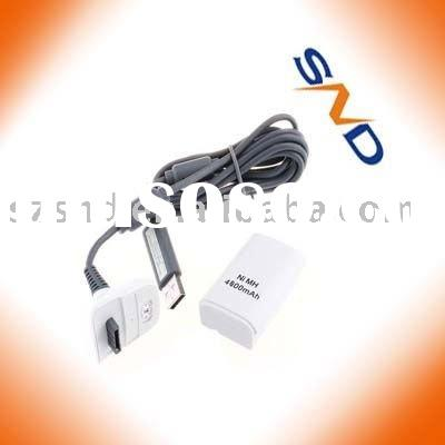 4800mAh battery and USB charger cable kit FOR XBOX 360