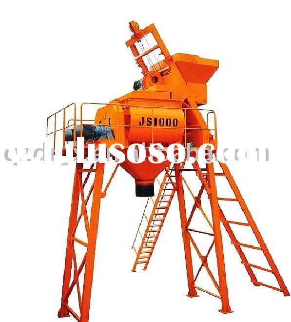 JS1000 Double Axle Concrete Mixer, Concrete Batching Plant, Concrete Mixing Plant