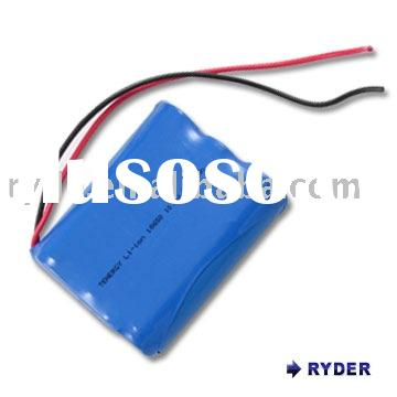 Li-Ion rechargeable cylindrical 18650 11.1 V Li-Ion rechargeable battery pack