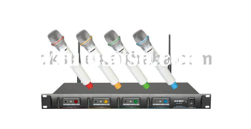 UHF dual channle wireless microphone