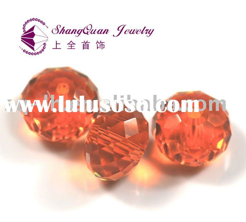 fashion faceted jewelry glass beads pumpkin beads