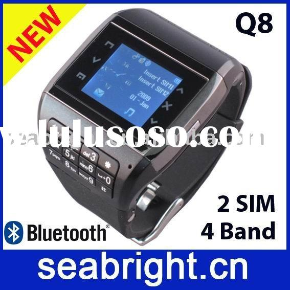 watch mobile Q8 with dual sim card,quadband