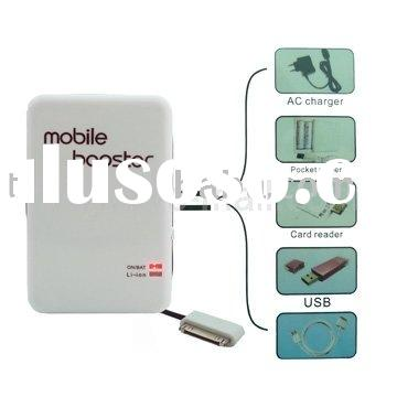 Battery Pack Mobile Booster(3000mA), Compatible for all iPod series,iPhone 2G/3G/3GS/4G,Mobile phone