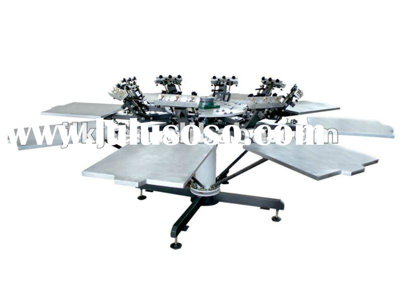 Hand rotary t shirt screen printing machine(8 color )