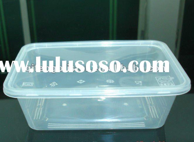 650ml rectangular disposable microwave plastic food container box with lid