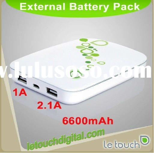 6600mAh Dual USB Battery Pack for iPhone 4 and iPad