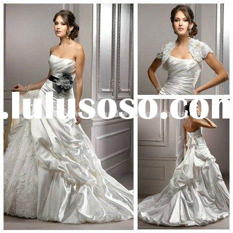 Ball Gown Wedding Dresses 2011 Unique With Black Ribbon