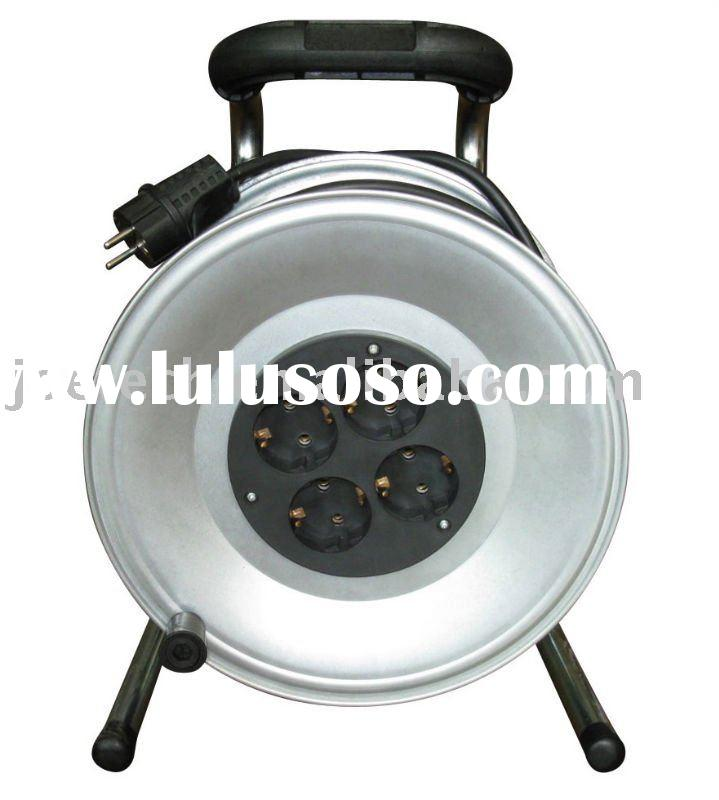 Euro Cable Reel Schuko plug VDE cable H05VV-F 3G1.5mm2 cable Euro 4-outlet sockets 25/50m