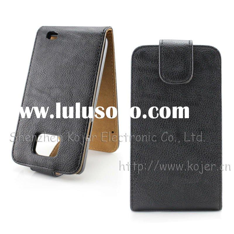 Leather Flip Mobile Phone Case for Samsung Galaxy S2(I9100)