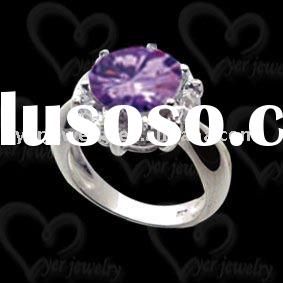 Wholesale fashion design handmade 925 sterling silver cz rings jewelry