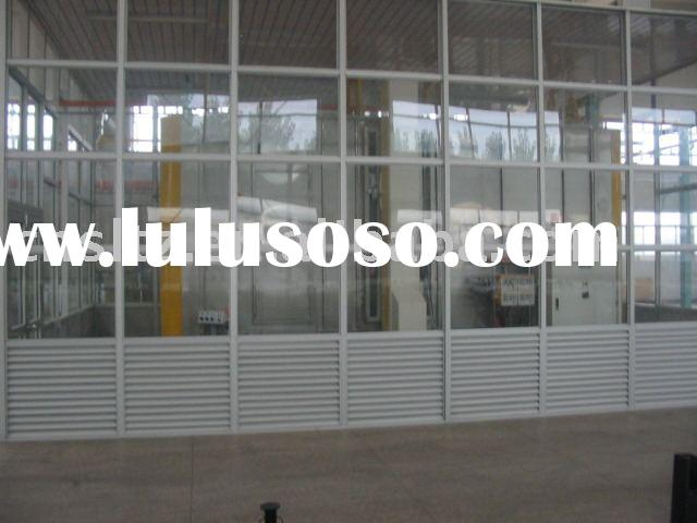 automatic paint booth with closed room of powder spray system
