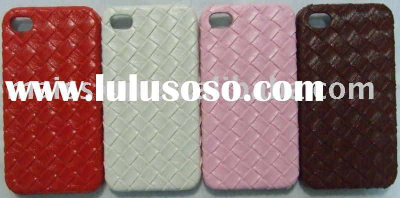 leather cover case for apple iphone 4g