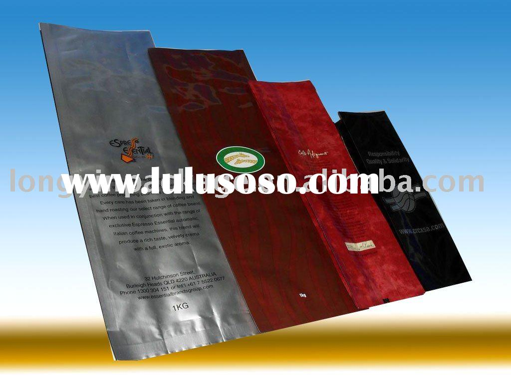 side gusset coffee bag with valve 250g 500g 1kg/coffee packaging bag