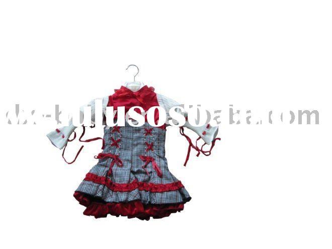 2011 hot sale fashion winter baby girl set with dress