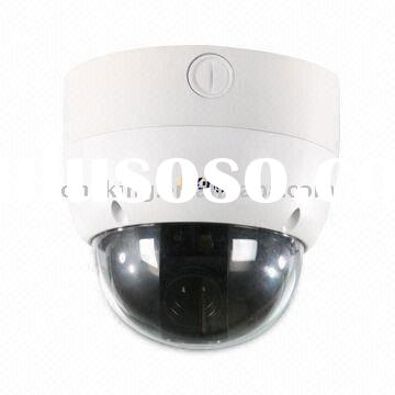 Network IP dome security Camera with 10x Optical Zoom, Vandalproof Housing and H.264 Video Code comp