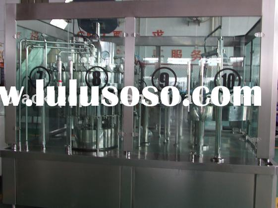 automatic beverage bottle rinsing/washing machine/pure/mineral water filling line/filling equipments