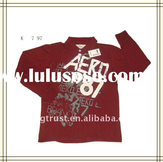 polo t-shirts for men long sleeve 100% cotton