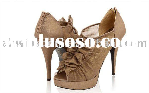 retial or wholesale 2011 new style waterproof fashion high heel shoes,women shoes