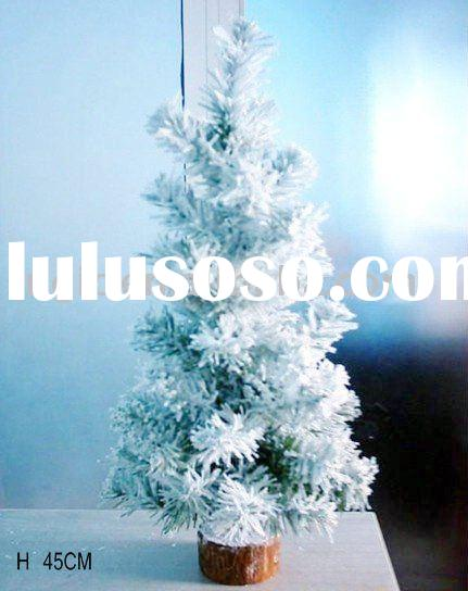 45cm small artificial house place decorative snowing Xmas tree,PVC plastic green pine needles indoor