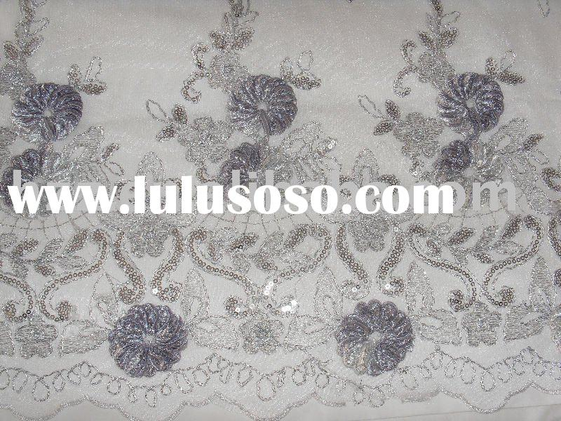 Flower Embroidered Fabric