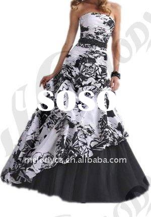 Gorgeous Black And White Bridesmaid Dresses Cheap