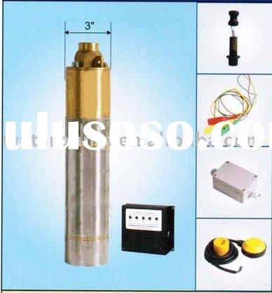 Solar powered submersible deep well water pump