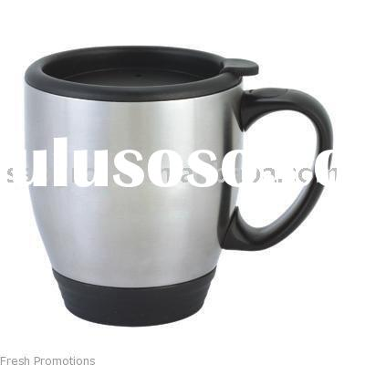 coffee cup(18/8,18/0 stainless steel,water bottle,PP#5 cap)