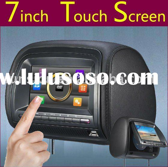 headrest dvd players, 7' headrest dvd players with touch screen and game player, zipper