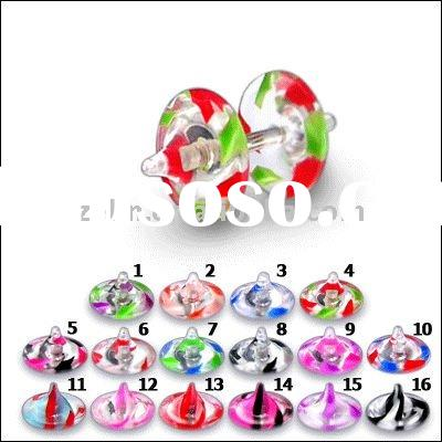2011 fashion fake ear plug acrylic body piercing jewelry
