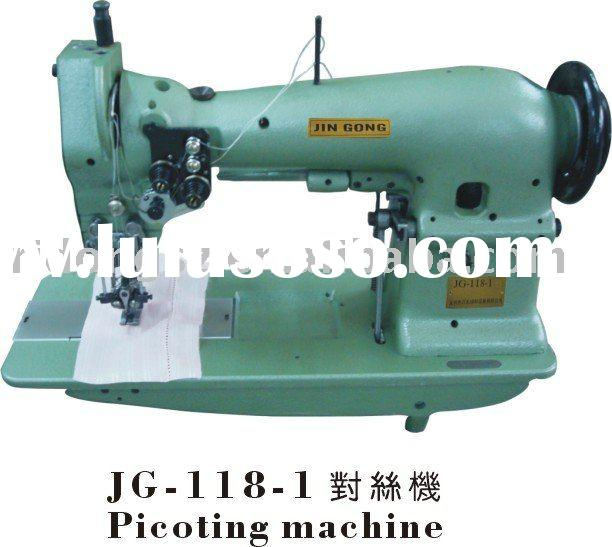 JG-118 double needle picoting stitch sewing machine