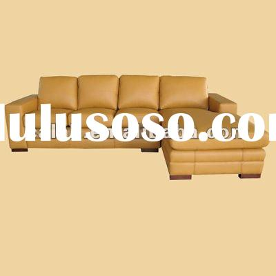 Latest contemporary leather/pu sectional sofa set