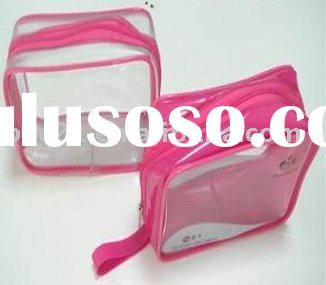 PVC Plastic Handle Bag With Zipper