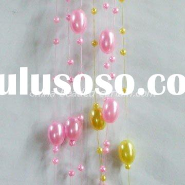crystal bead sprays, acrylic beaded garland chains, wedding tree decoration