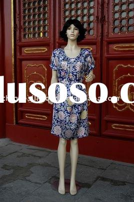 fashion Silk Dress/2010 summer new design/chinese silk dress/silk evening dress/silk Ceremonial Dres