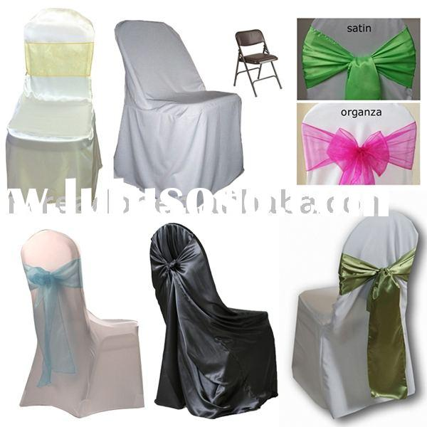 polyester chair cover folding banquet chair cover spandex chair covers, self tie chair covers,sashes