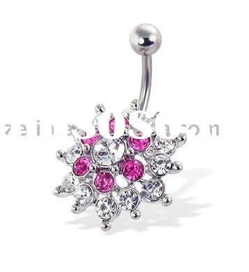 surgical steel navel ring body piercing jewelry