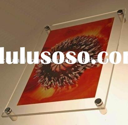 wall mounted frame , acrylic frame , photo frame , sign plate , name plate , logo plate , sign holde