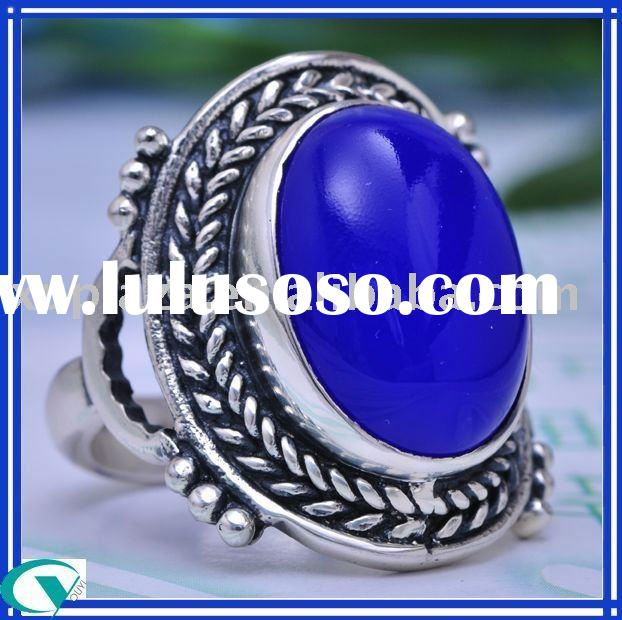 wholesale agate 925 sterling silver gemstone ring