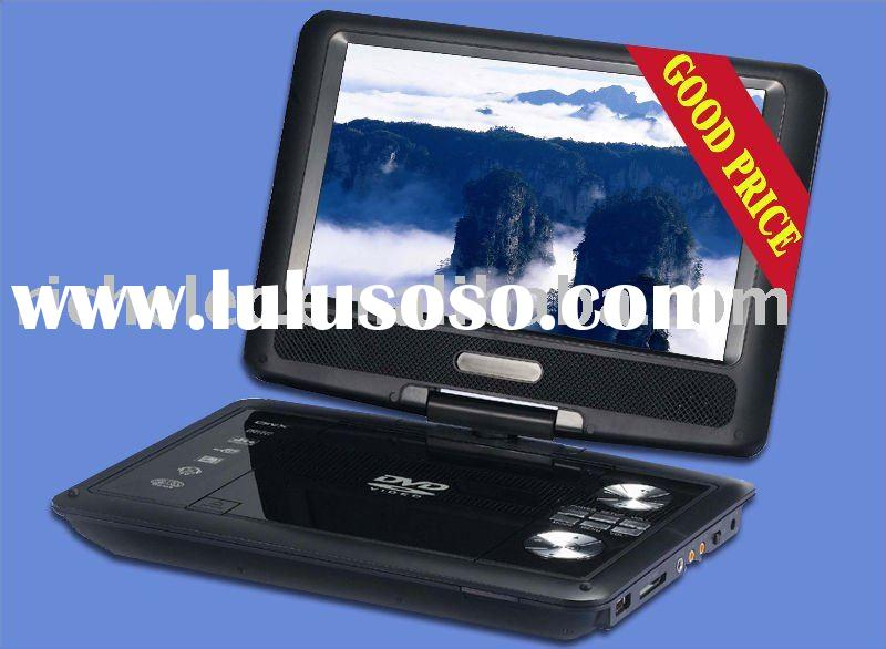 9 inch 9.8 inch Portable dvd player with swivel lcd screen with EVD/DVD/TV/USB/Card/GAME/DIVX and FM