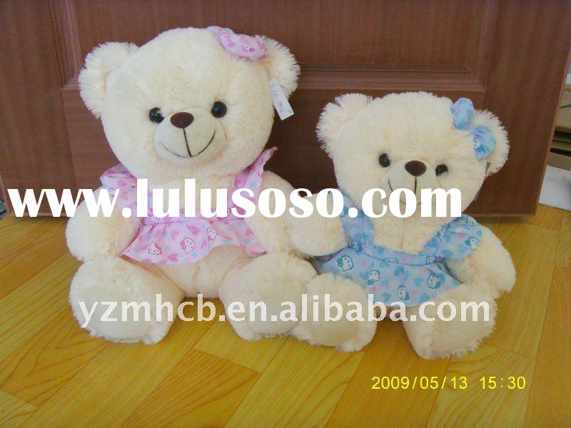stuffed plush teddy bear animal toy/lovely teddy with clothes