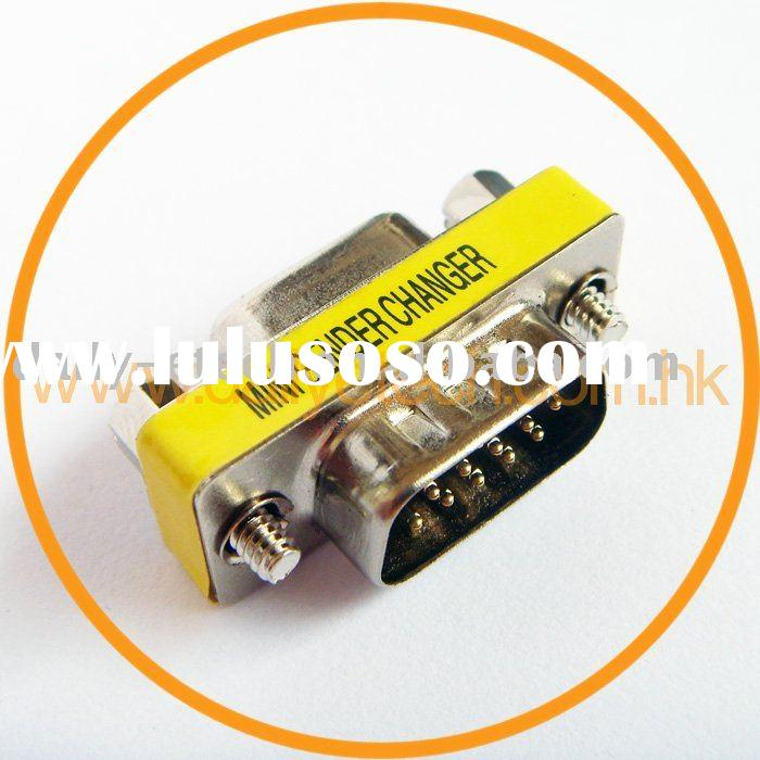 15 Pin HD DB15 SVGA VGA Male to Female Converter Adapter