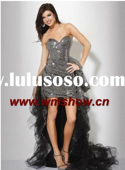 2011 Latest Modern Beautiful Front Short And Long Back Prom Dress