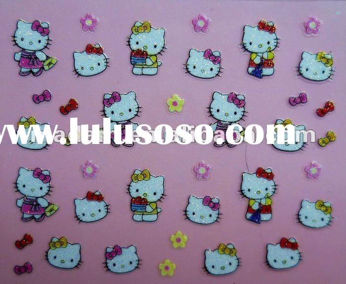 Cute Hello Kitty 3D Nail Art Sticker Tip Decal Manicure /24 Different Designs (MD-3DTZ-001A)