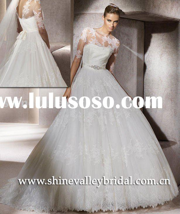 Lace Princess Designer Ball Gown,Puffy Wedding Dress,PV340,Customer Made