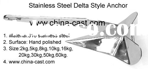 Stainless Steel Delta Style Anchor,Delta Anchor,Delta Style Boat Anchor,Marine Anchor
