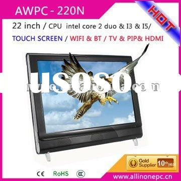 22inch LCD computer all in one with TV,PC+LCD+TV, all in one lcd pc ,lcd pc tv- New design