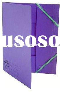 Elasticated 3 flap folders made of paper board