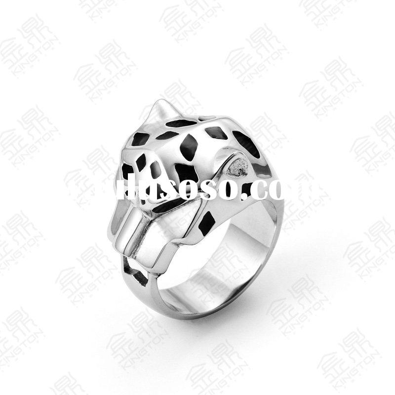 Fashion 316L stainless steel military rings